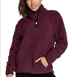 Pink Victoria's Secret Half zip pullover S…